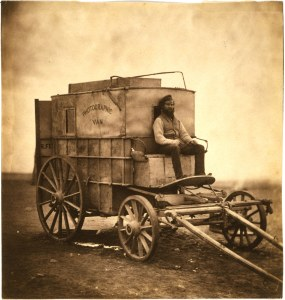 The photographic van with Sparling on the box ( http://www.loc.gov/pictures/resource/cph.3g09240/)
