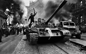 CZECHOSLOVAKIA. Prague. August 1968. Warsaw Pact tanks invade Prague.