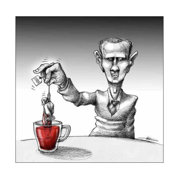 Le thé de Bachar (Le Monde, 6-2-12)